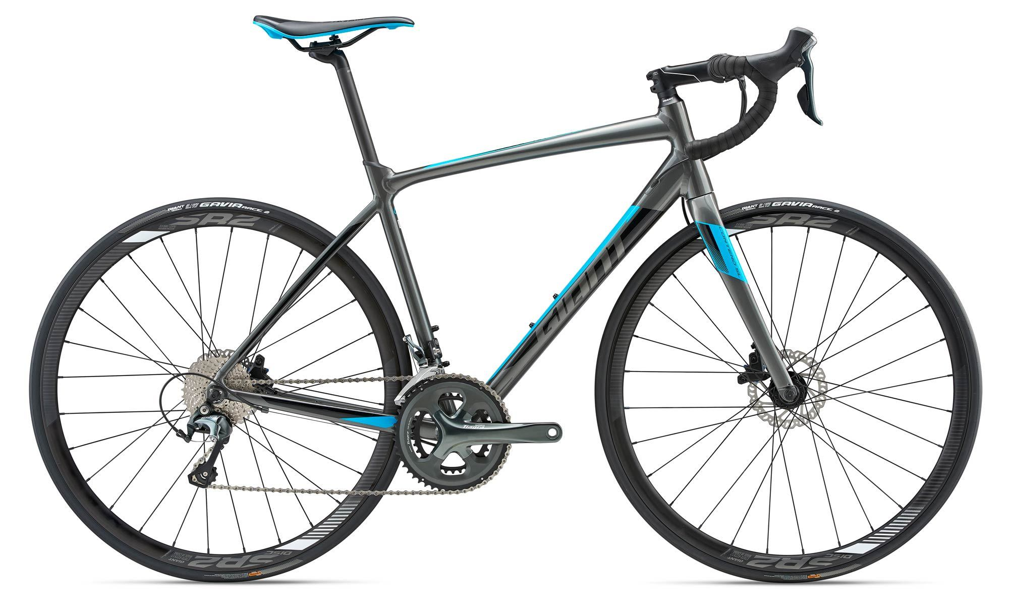 1c733cdc9e3 Giant Contend SL 2 Disc 2018 Road Bike - Charcoal/Black/Blue £999.00