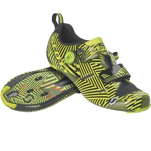 8d3e3e87ad Scott Road Tri Carbon 2019 Road Shoes - Gloss Black Sulphur Yellow ...