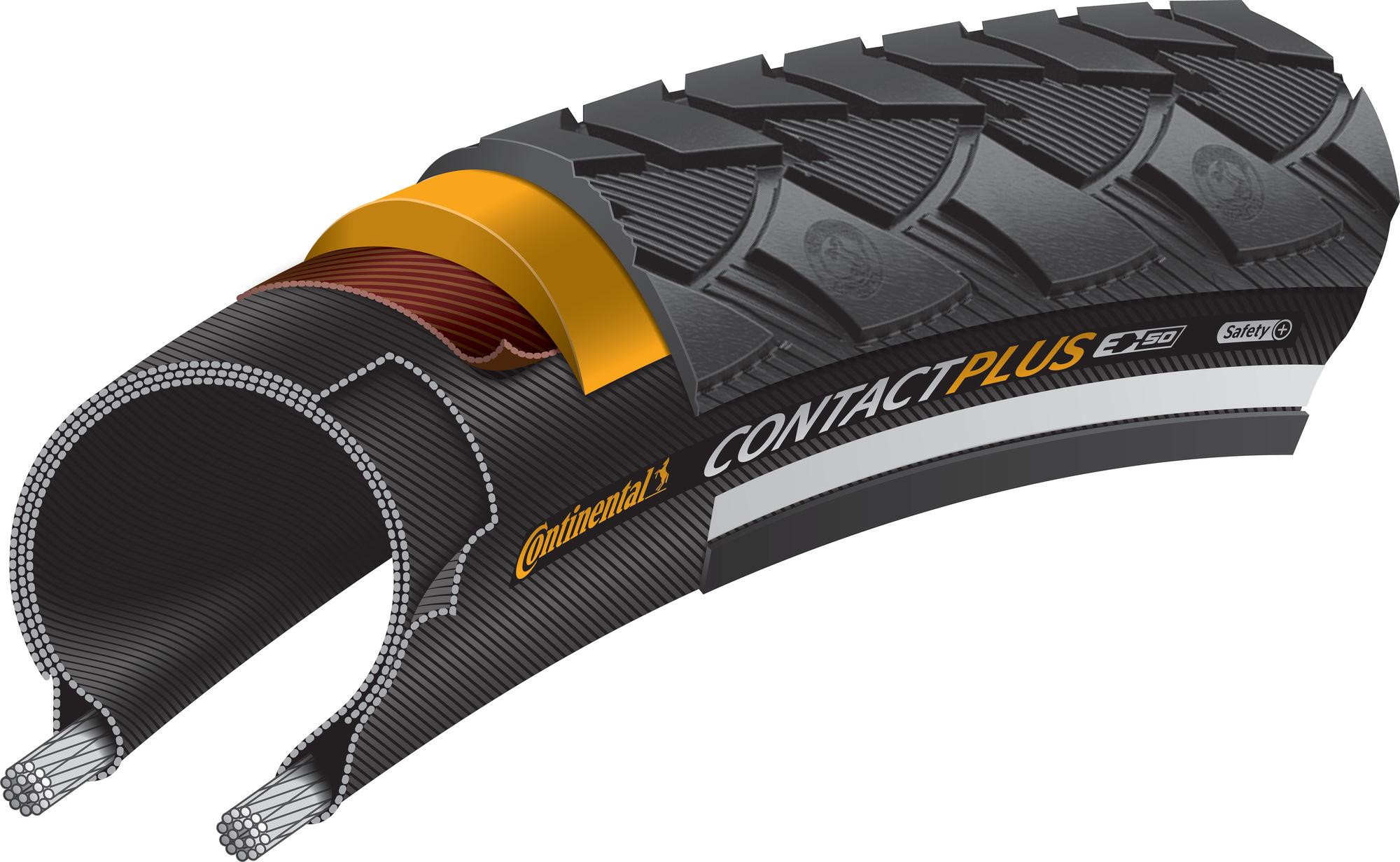 Plus Reflective 24 inch Tyre Black